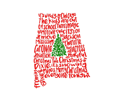 alabama christmas in dixie song state svg or silhouette