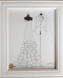 custom wedding dress custom wedding dress and tuxedo sketch bride and groom by zoia