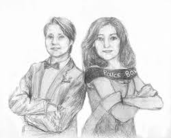 the doctor and the tardis drawing by angelachapel on deviantart