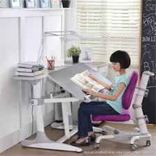 kids study desk and chair with wide led light 2 0