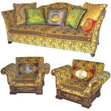 Versace Sofa Gianni Versace Sofa And Pair Of Club Chairs At 1stdibs