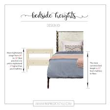 nightstand best height for nightstand console table decor