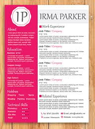 custom resume templates custom resume template word resume template photoshop resume