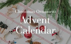 ornament advent calendar pottery barn