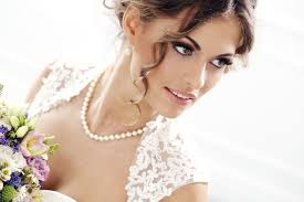 pearl necklace wedding dress images Choosing a bridal necklace articles easy weddings jpg