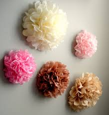 5 tissue paper pom pom wall flowers choose your