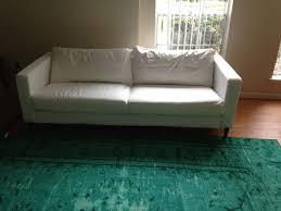 ikea sofa hacks karlstad hack a mid century sofa for less than 200