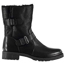 comfortable motorcycle riding boots firetrap womens nova biker boots flat ankle zip buckle leather upper