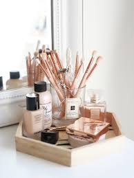 rose gold vanity table my makeup collection kate la vie