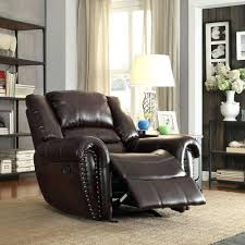 Reclining Swivel Chairs For Living Room by Recliner Ideas Palmares Bonded Leather Reclining Swivel Chair 116