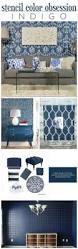 stencil color obsession indigo stencil stories cutting edge stencils shares diy stenciled accent walls and home decor ideas in indigo blue