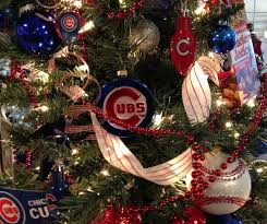chicago cubs christmas tree by ribbonista leah farrar white may
