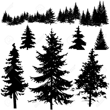 pine tree silhouette search bears moose and deer oh my