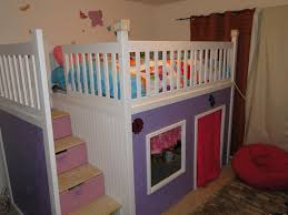 decor bunk bed with desk and stairs and slide tray ceiling kids