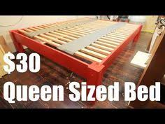 How To Make A Cheap Platform Bed Frame by Cheap Easy Low Waste Platform Bed Plans Platform Beds