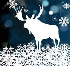 christmas moose background illustration royalty free cliparts