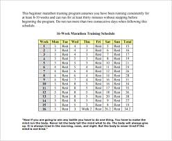 weekly workout schedule template