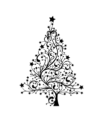 black christmas tree black and white christmas tree drawing at getdrawings free for