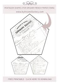 diy origami french paper stars u0026 free printables