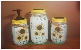 sunflower kitchen set soap dispenser sugar jar utensil jar