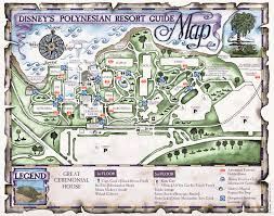 Disney Florida Map by The Polynesian Resort Hotel U2013 History Of Walt Disney World U0027s