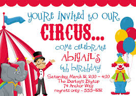 Birthday Invitation Cards For Friends 11 Marvelous Circus Birthday Party Invitations Theruntime Com