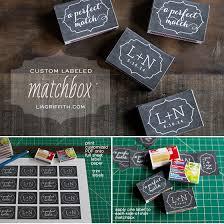 matchbook wedding favors wedding favor matchbox labels