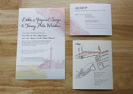 wedding invitations toronto invitation design toronto island watercolour hoopla