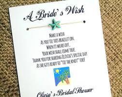 bridal shower wish wish bracelet wedding favors jewelry by madebydina on etsy