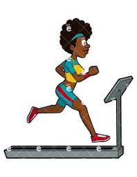 a woman running on a treadmill adorable aerobic athletic