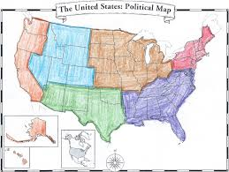 Map Of Usa Blank by Maps United States Map Divided Into Regions Filemap Of Usa Np
