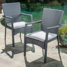 Black Patio Chair Decor Tips Amazing Black Wicker Outdoor Dining Chair With White