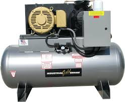 vane air compressor 15 hp 3 phase 2 stage stationary electric for