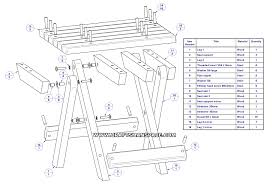 Free Wooden Folding Table Plans by Camping Stool Plan