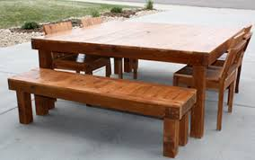 Cedar Patio Furniture Plans with Adwoodcraft Patio Tables And Chairs