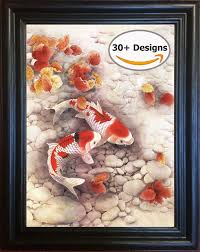 amazon com koi fish framed 3d lenticular picture 14 5x18 5