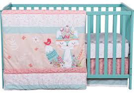 Teal Crib Bedding Sets Wild Forever Baby Bedding Set Crib Linens Pink