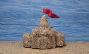 clay sandcastles sculpture and collage kinderart