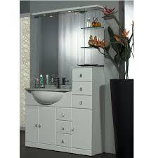 bagno mobile mobile bagno cleo 100 bianco completo con lavabo in ceramica bh