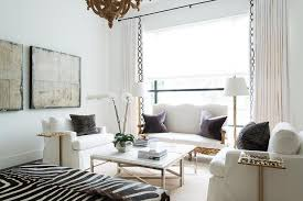 Zebra Side Table White French Living Rooms French Living Room