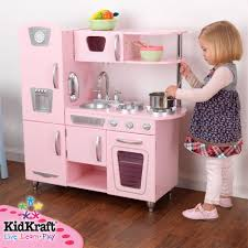 Pretend Kitchen Furniture by Kidkraft Pink Vintage Kitchen Play Set At Growing Tree Toys