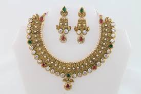 earrings and things charming traditional gold kundan necklace set with earrings and