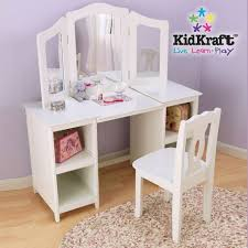 coiffeuse chambre fille coiffeuse enfant et chaise blanche 3 miroirs kidkraft ma chambramoi