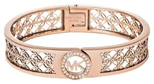 bracelet kors images Michael kors rose gold fulton mk monogram bangle bracelet tradesy jpg