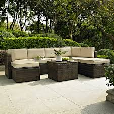 Conversation Sets Patio Furniture by Shop Crosley Furniture Palm Harbor 8 Piece Wicker Patio