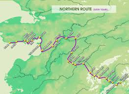 Alaska Route Map by Iditarod Historical Alaskan Tradition Race Celebrates 44th Year
