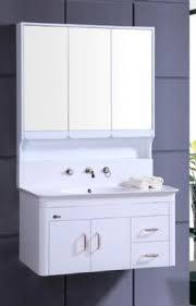 Wall Mounted Bathroom Vanity Cabinets by Pvc Bathroom Vanity Cabinet In White P7201 From Bathroom Vanity