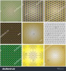 japanese ornament set backgrounds medieval japanese ornament pattern stock vector