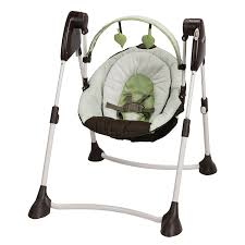 Graco Doll Swing High Chair Amazon Com Graco Swing By Me 2 In 1 Portable Swing Go Green Baby