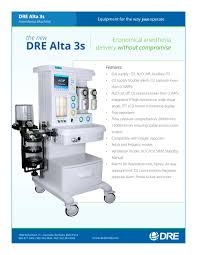dre alta 3s anesthesia system dre medical pdf catalogue